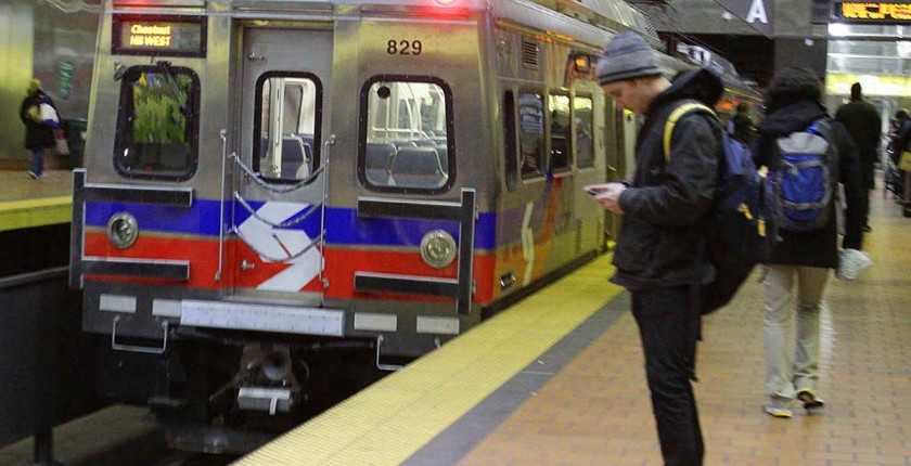 Silverliner V's at Market East Station around 4 pm today. SEPTA has become one of the top transit agencies in the country.  Wednesday, February 20, 2013. (  Steven M. Falk / Staff Photographer )